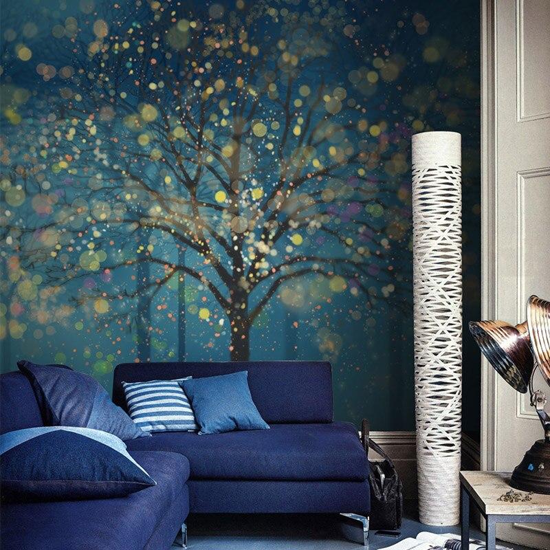 Free shippingdream woods art wallpaper murals personality for Custom mural wallpaper uk