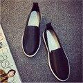 Boca baja de las mujeres Zapatos de Ocio Blanco de Un Pedal Zapatos Perezosos Estudiantes Solos Zapatos de Fondo Plano mujer zapatos. SGLL-039