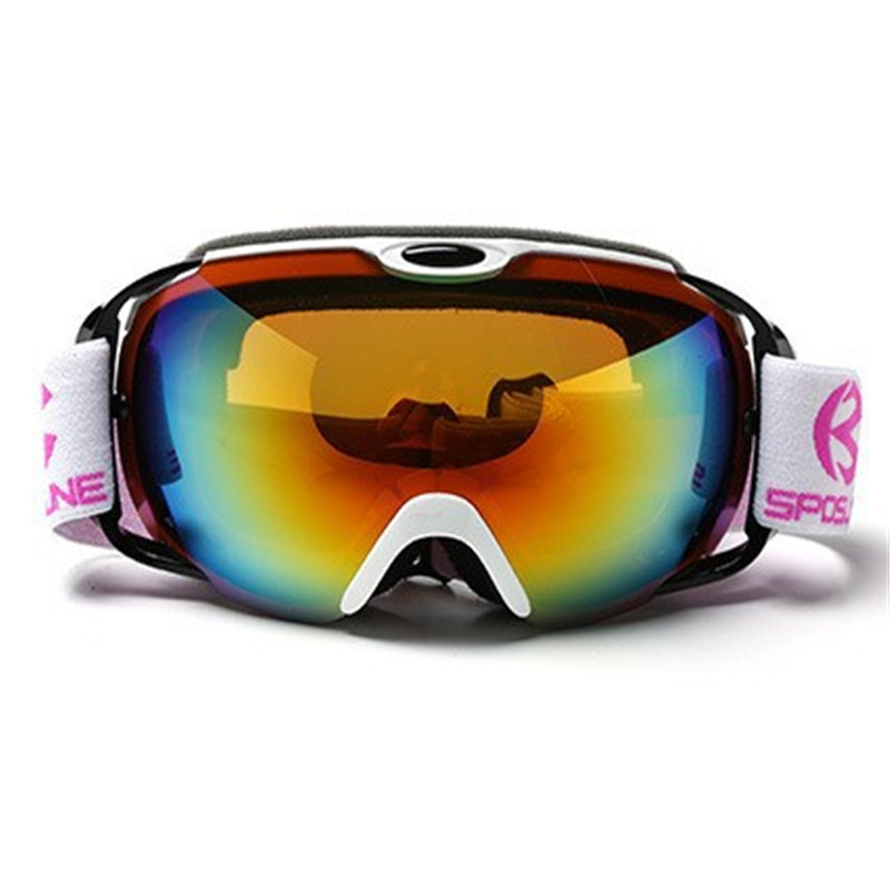 Green/Orange/White/Blue/Black Ski Goggles Men Women Snowboard Glasses Snow Eyewear  Anti-fog Double Lens UV Snowboard Goggles