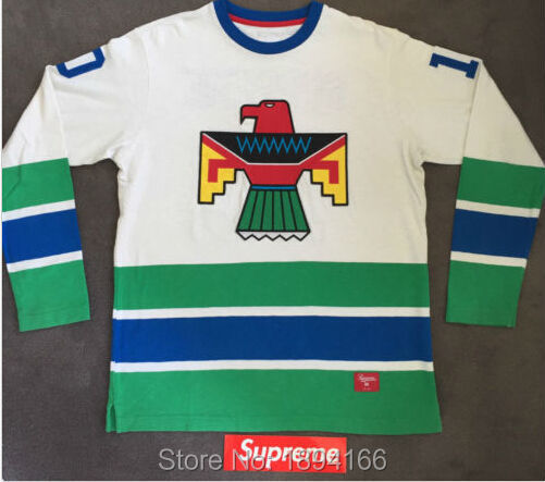 10 SUPREME THUNDERBIRD HOCKEY JERSEY Men s White Stitched High Quality Ice Hockey  Jersey XS-6XL Free shipping 921dcdc0e24