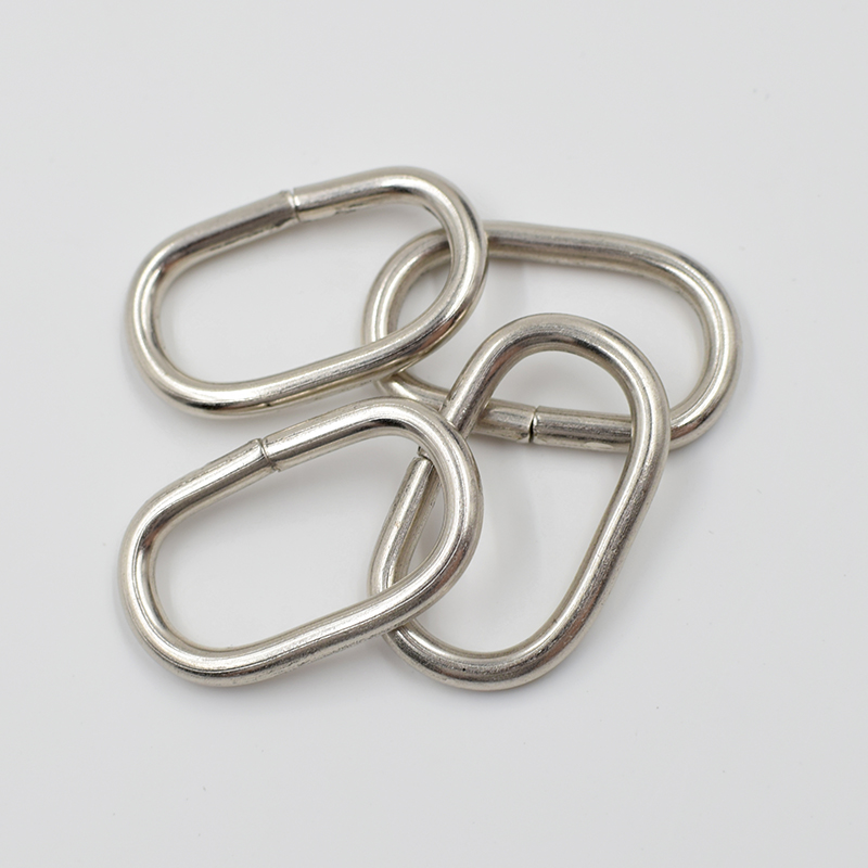 10 pieces lot Oval metal buckle clothing accessories adjustment buckle Ribbon buckle backpack Bags accessories Ms strap in Buckles Hooks from Home Garden