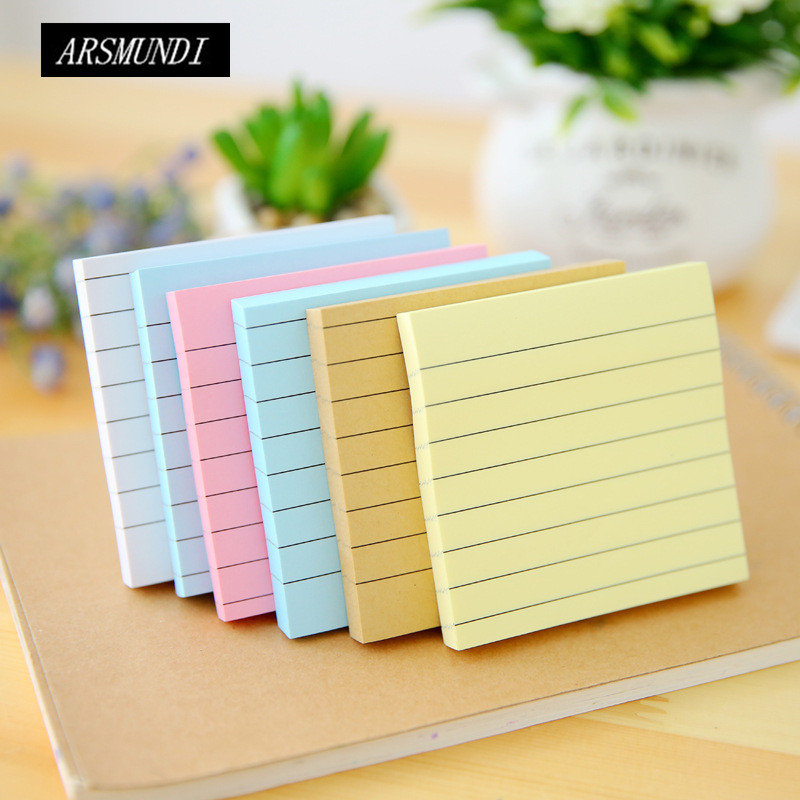 Cute Sticky Notes Candy Colors Kawaii Post It School Office Papeleria Planner Stickers School Supplies Stationery