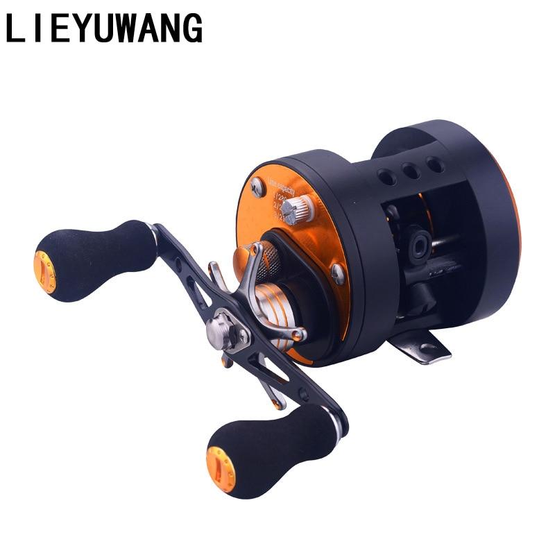 Moulinet de pêche 5.6: 1 moulinet de pêche à l'eau moulinet de pêche à l'eau gauche droite frein magnétique appâts de pêche à la carpe