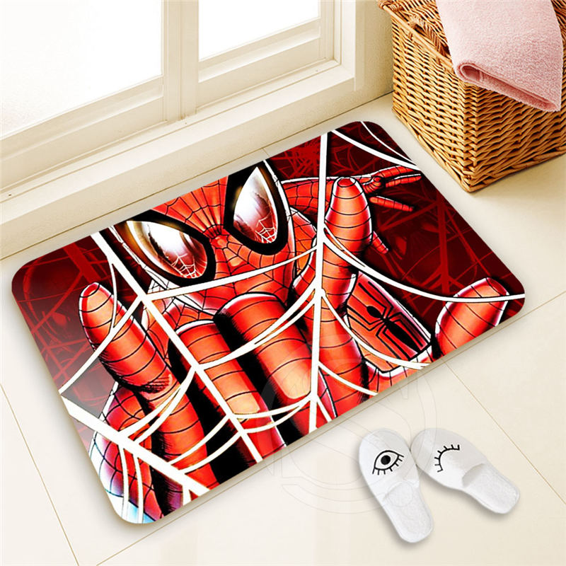 Personalized Custom spider man Doormat Home Decor 100% Polyester Pattern Door mat Floor Mat foot pad SQ00722-@H0679
