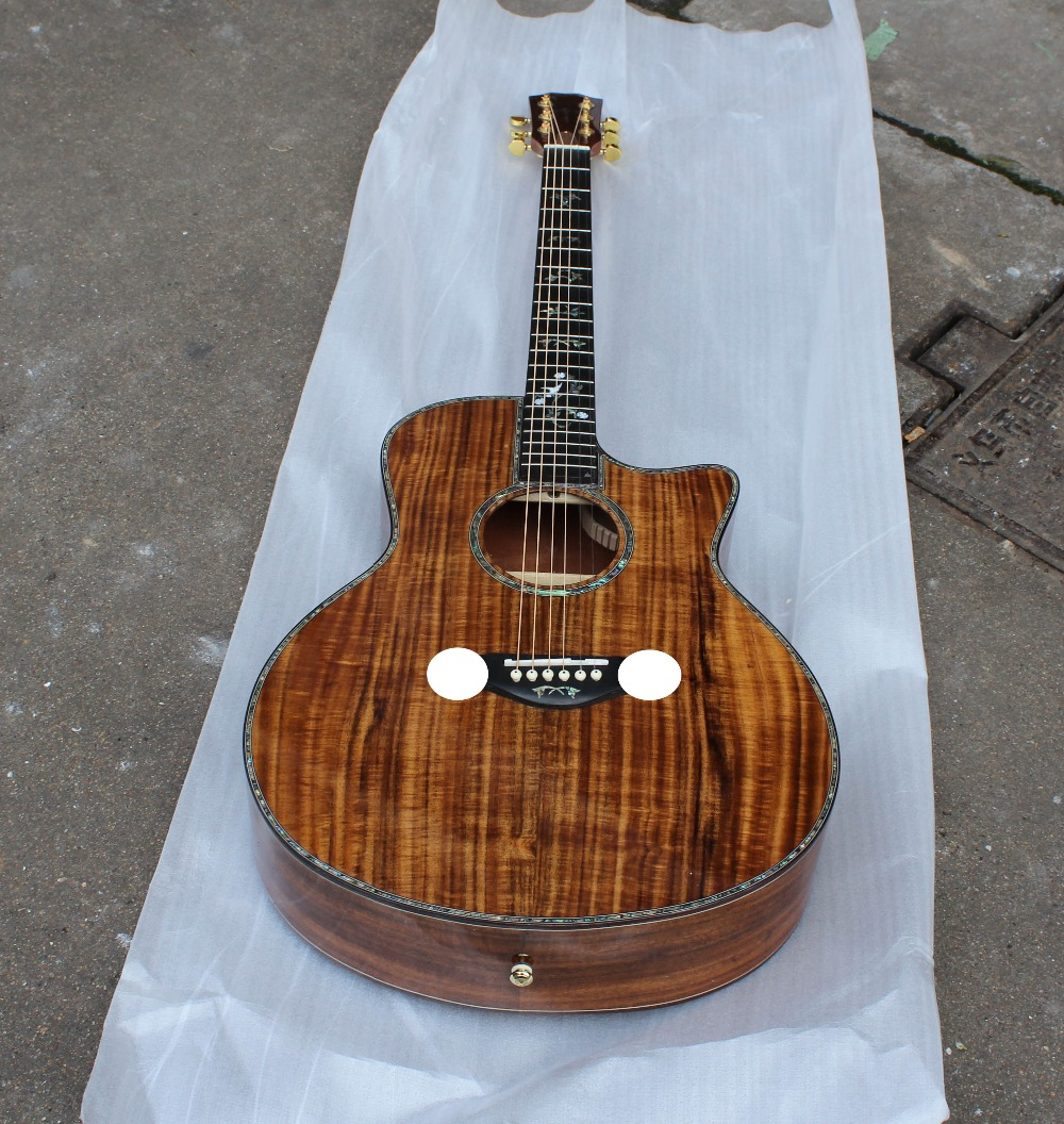 2016 New arrival solid koa acoustic guitar. solid koa wood acoustic electric guitar-in Guitar from Sports & Entertainment on Aliexpress.com ...