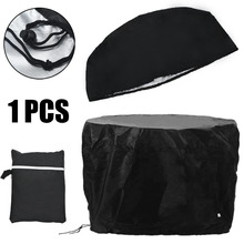 77x58cm Waterproof BBQ Cover Heavy Duty Round Fire Pit Barbecue Cooking Grill Canopy Shelter Covers Black Mayitr