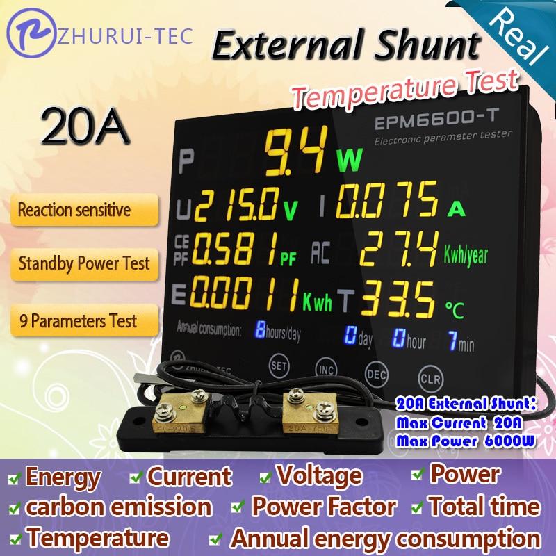 EPM6600-T 20A / 6kw galios matuoklis / bandymo įtampa / srovė / - Matavimo prietaisai - Nuotrauka 2