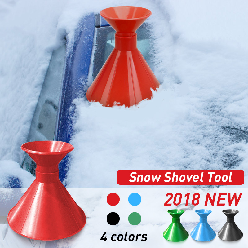 Useful Car Windshield Snow Removal Magic Outdoor Ice Shovel Cone Shaped Funnel Snow Remover Tool Scrape Auto Tools Ice Scraper Carefully Selected Materials