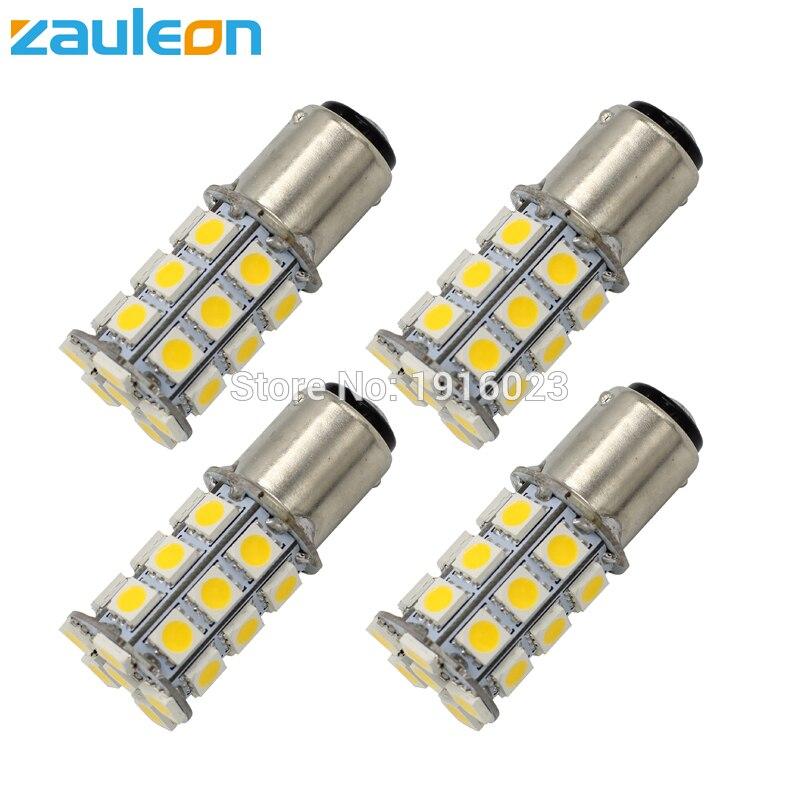 2 PCS 7.5 Watts Luxeon Cree Xenon White 15-SMD 1157 2357 LED Brake Tail Lights