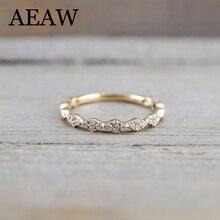 14 к желтое золото DF Муассанит муассанит обручальное кольцо общая лаборатория Алмаз пасьянс Свадьба для женщин