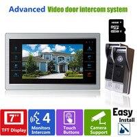 YSECU 7 Inch Video Door Phone Intercom Doorbell System With 16 GB SD Card Photo Video
