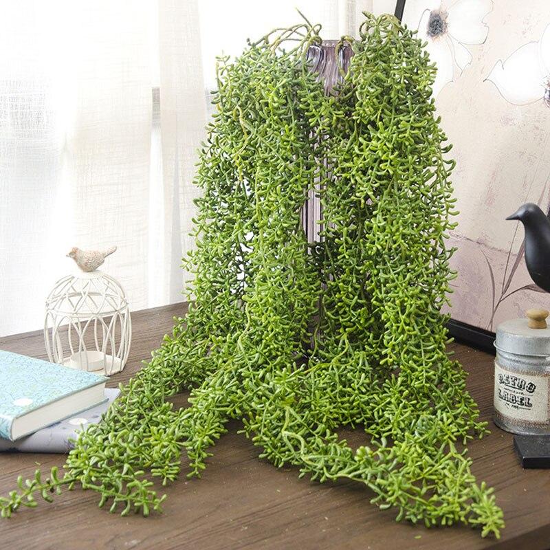 118cm Green Plastic Artificial Vine Plants Hanging Wall