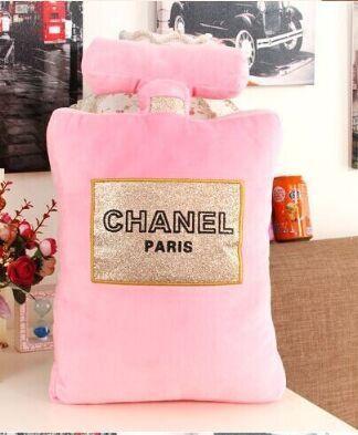 warm and loving perfume bottle shape cushion pillow creative gift chanel pillow accent home decor soft lumbar pillow