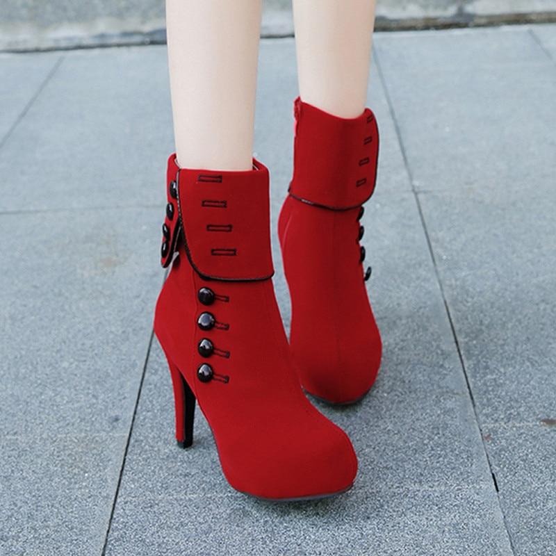 2018 Martin 10 Cremallera Invierno Mujer Zapatos Moda 42 Tacón Casual Otoño Alto Gran 616 Tobillo Red De Tamaño 35 Mujeres Botas Plataforma Black Cm Las 616 qw8xvTFtq