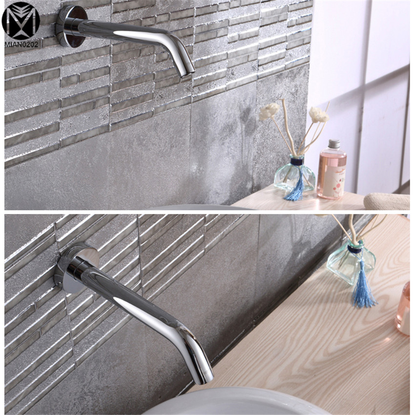 Bathroom Faucet Wall Mounted Sensor Faucet Automatic Hands Free Touch Sensor Faucet Bathroom Sink Tap Mixer Faucet mans summer shoes white black fashion platform soft pu sandals women s high heeled shoes thick heel sandals casual flip slippers