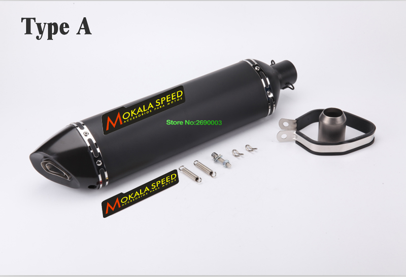 Motorcycle Mokala Exhaust Inlet 51mm Length 570mm Motorbike Exhaust Pipe Mufflers Escape with Carbon Exhaust Tip and DB Killer