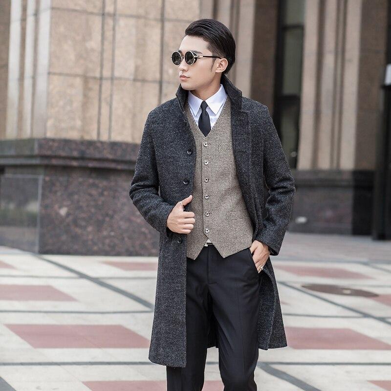 new arrival high quality fashion men's outerwear extra large wool coat plus size S- XL 2XL 3XL 4XL 5XL 6XL 7XL 8XL 9XL 10XL