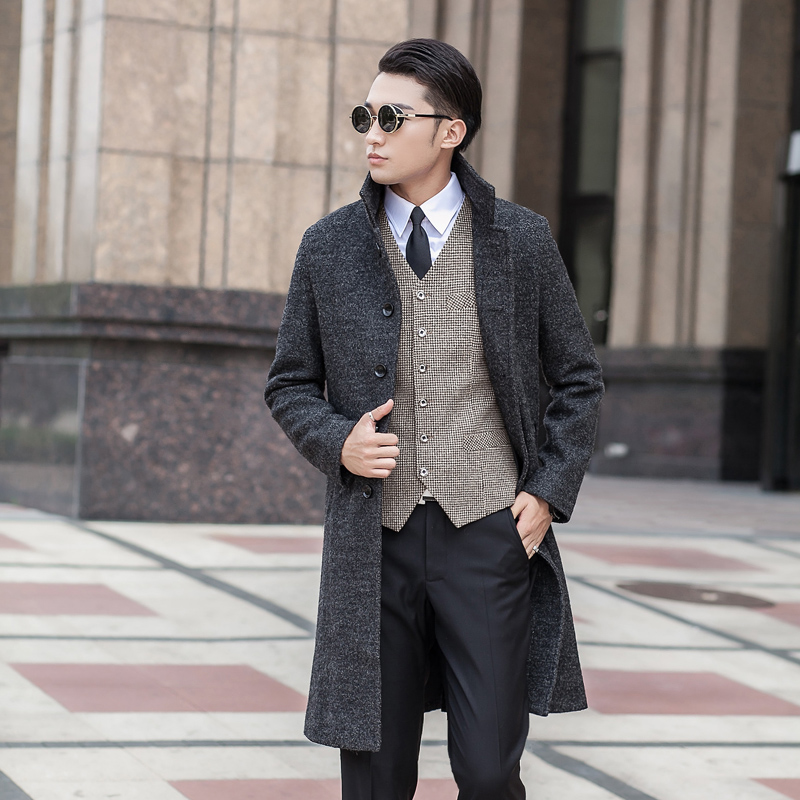 New Arrival High Quality Fashion Men's Outerwear Extra Large Wool Coat Plus Size S- Xl 2xl 3xl 4xl 5xl 6xl 7xl 8xl 9xl 10xl The Latest Fashion