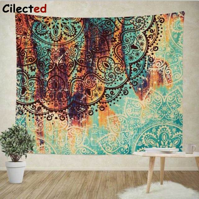 Cilected Bohemian Mandala Tapestry Wall Hanging Indian Wall Decor Hippie  Tapestries Throw Sheet Coverlet Cotton Beach