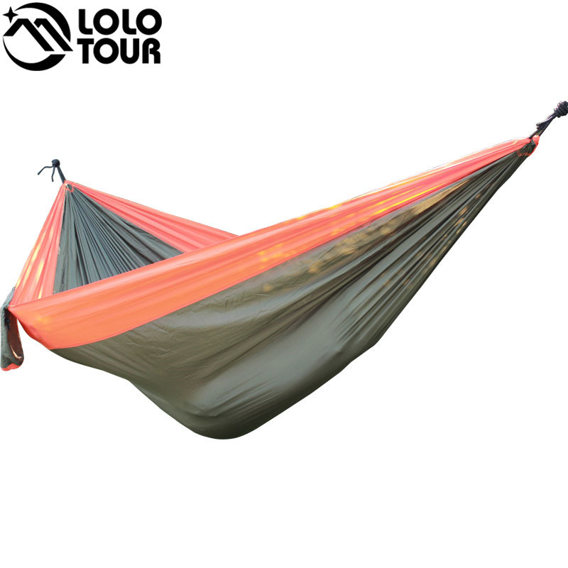 Ultra-Large 210T Hammock Hammock Double 2 Person Travel Camping - Mobiliário - Foto 3