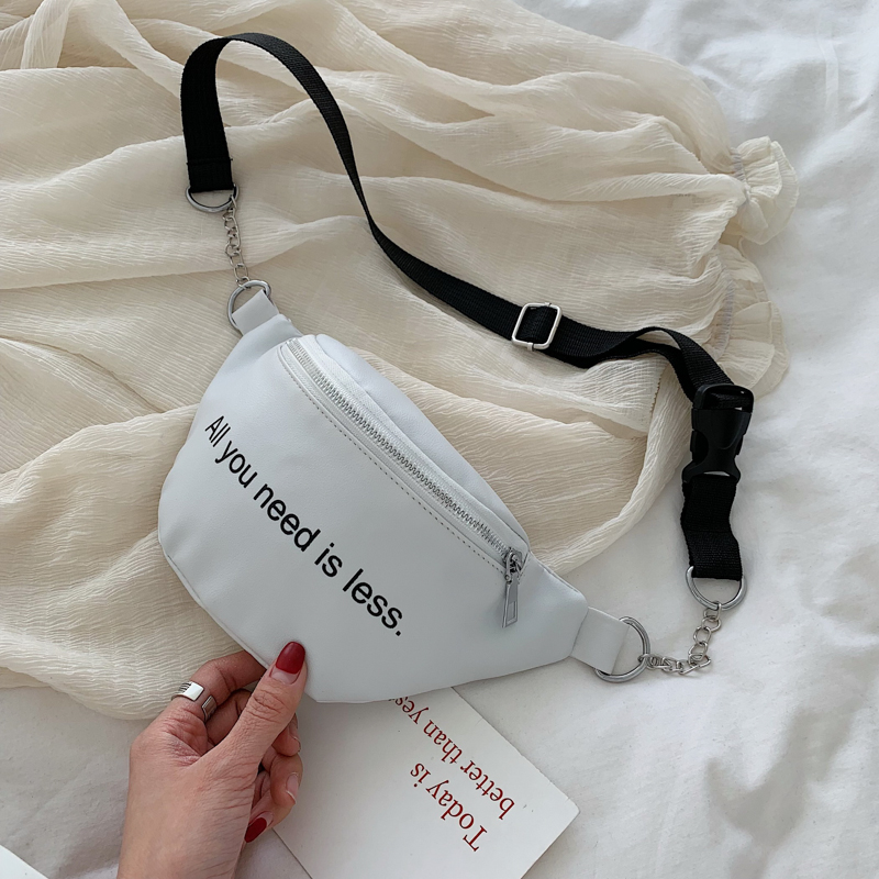 Women Belt Bags Waist Bag Leather Chest Bags For Women 2019 Summer New Crossbody Messenger Shoulder Bag Pouch For Girls Fashion in Top Handle Bags from Luggage Bags