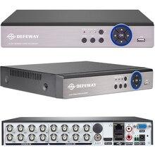 DEFEWAY Full HD 1080N CCTV DVR 16CH ONVIF H.264 HDMI Сетевой Видео Регистратор 2 SATA запись 720P наблюдения DVR