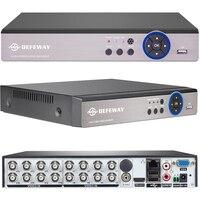 DEFEWAY Full HD 1080P CCTV DVR 16CH ONVIF H 264 HDMI Network Video Recorder 2 SATA