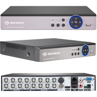 DEFEWAY Full HD 1080P CCTV DVR 16CH ONVIF H 264 HDMI Network Video Recorder 2 SATA