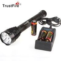 TrustFire J18 супер яркий lb-XL T6 светодиодный фонарик 3500lm 7 лампы факел Открытый Flash Light + 3X26650 Батарея + Зарядное устройство