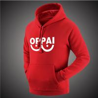 2016 Anime One Punch Man Hero Saitama Oppai Hoodies Halloween Cosplay Costume Hoodie Jacket Sweatshirts Men Women Plus Size 4