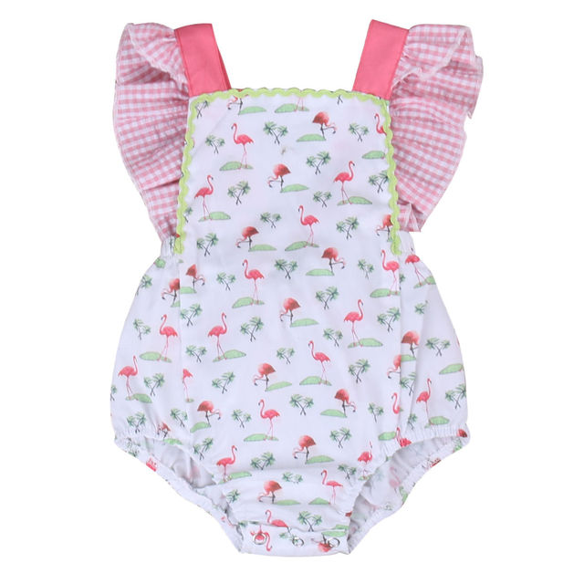554f42191bf3 2017 Lovely Newborn Baby Girl Clothes Summer Sleeveless Ruffles Halter  Romper Toddler Kids Jumpsuit Cotton Outfits