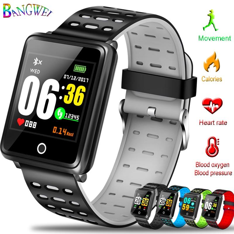 Men's Watches Reasonable Bangwei Smart Sport Watch Ip68 Depth Waterproof Wearable Swim Smart Watch Tracker Blood Pressure Heart Rate Monitoring Pedometer Digital Watches