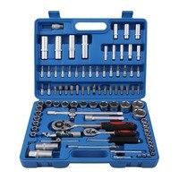 94Pcs/set Professional 1/2 1/4 Socket Set Screwdriver Bit Tool Torx Ratchet Driver Kit with Compact Case Auto Repair Hand Tool