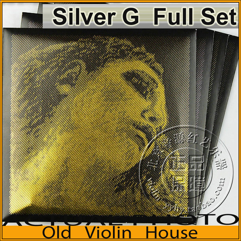 Original Pirastro Evah Pirazzi Gold Violin Strings Full Set - Silver Wound G, Ball End For 4/4  ,made in Germany,Free shipping free shipping evah pirazzi violin strings full set ball end made in germany for 4 4