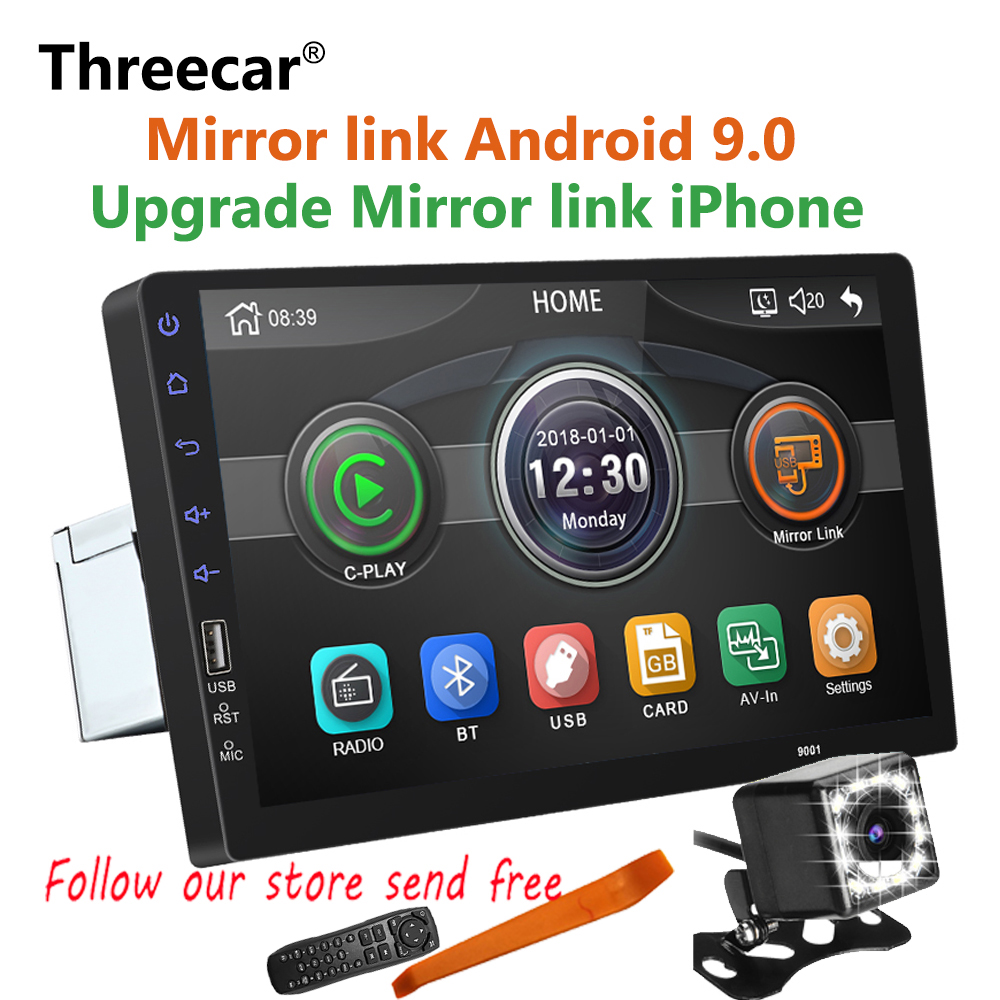 New Built-in Mirror link iPhone Android 9.0 2din Car radio 9 inch Bluetooth USB Rear View Camera MP5 Player One Din AutoradioNew Built-in Mirror link iPhone Android 9.0 2din Car radio 9 inch Bluetooth USB Rear View Camera MP5 Player One Din Autoradio