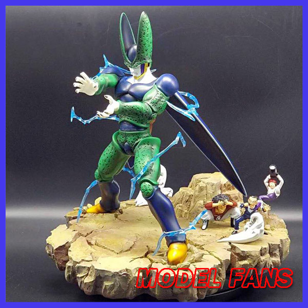 MODEL FANS instock VKH copy version DRAGON BALL Z 35cm Final Cell gk resin action figure toy model fans in stock dragon ball z 35cm super saiyangoku and time house gk resin statue figure for collection