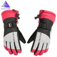 Women Chidren Kids Ski Gloves Snowboard Gloves Motorcycle Winter Skiing Climbing Cycling Gloves Waterproof Snow Mittens стоимость