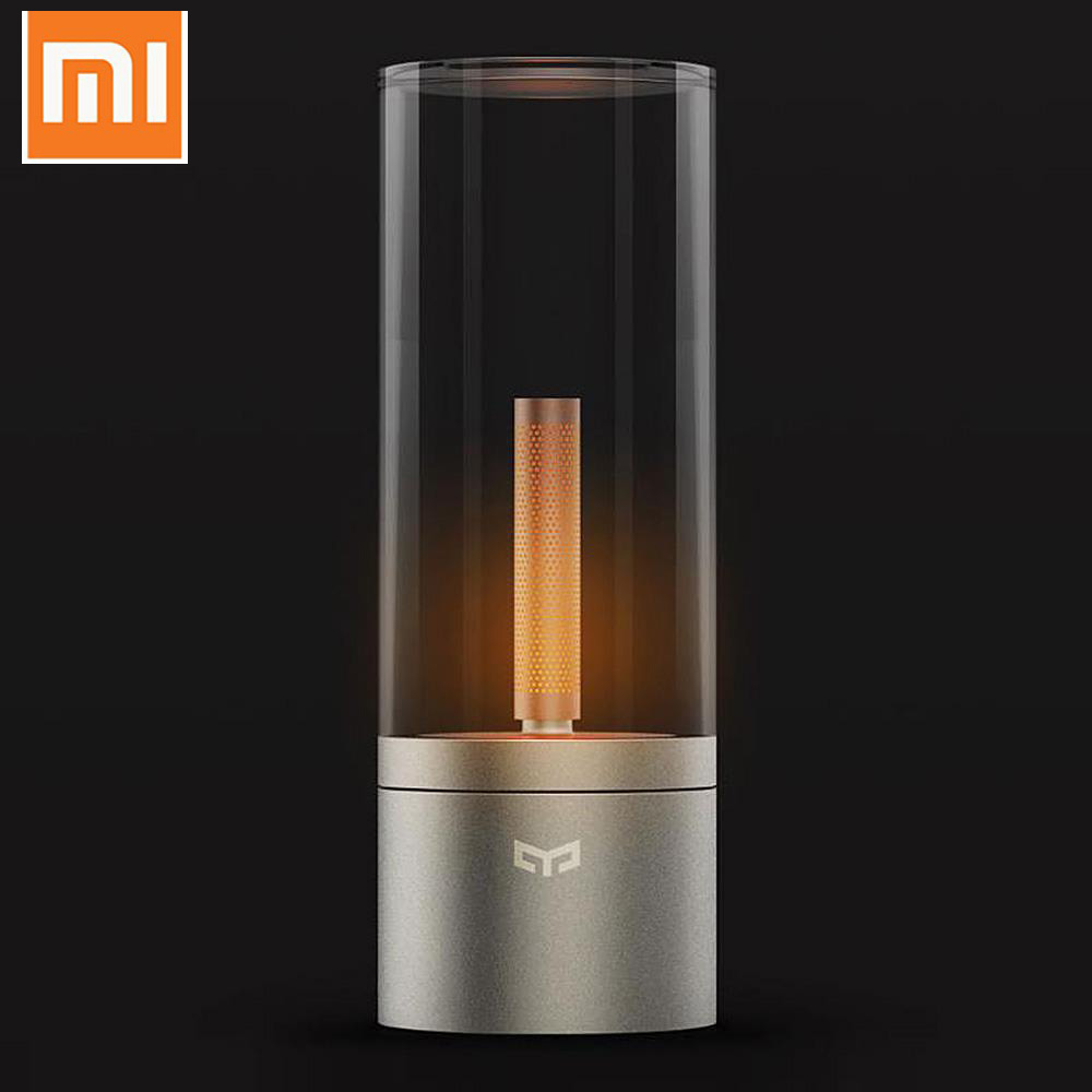 Original Xiaomi Mijia Yeelight Candela Led Night ight Smart Mood Candle light For xiaomi Mi home Bluetooth APP Remote Control original xiaomi yeelight blue ii led smart bulb colourful color e27 9w 600 lumens mi light smart phone wifi remote control