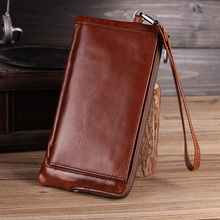 Cobbler Legend 13 Card Holder Genuine Leather Wallets Long Purse Men Oil Wax Retro High Capacity Wallet Male Clutch Men 2019 New