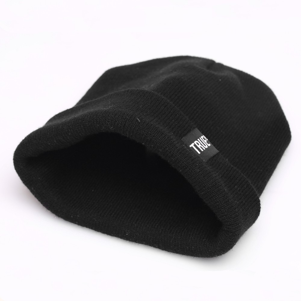 Letter True Casual Beanies for Men Women Fashion Knitted Winter Hat Solid Color Hip-hop Skullies Bonnet Unisex Cap Gorro 4