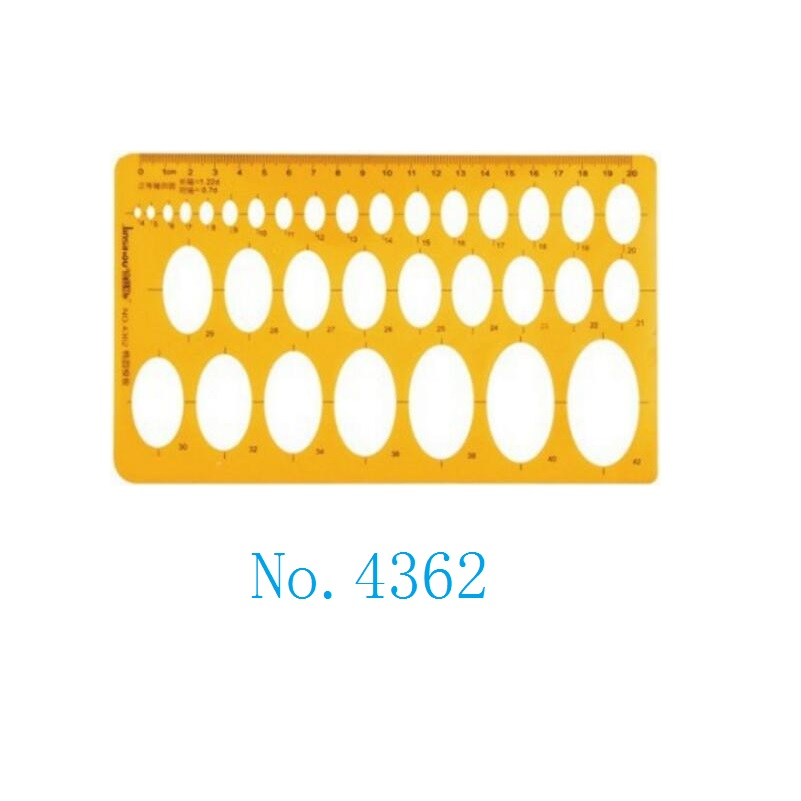 Elliptical Drawing Template Oval Template Stencil Metric Ruler  No.4362