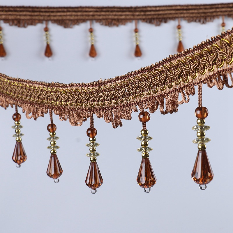 Elegant Sewing Trim Crystal Fabric Beaded Trim For Curtain