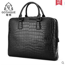 gete 2017 new hot free shiping Mist nile crocodile belly men handbag male big bag luxury men bags business men bag