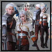 Juego de The Witcher 3: Wild Hunt Geralt de Rivia Ciri Cosplay Disfraces de Halloween Nuevo