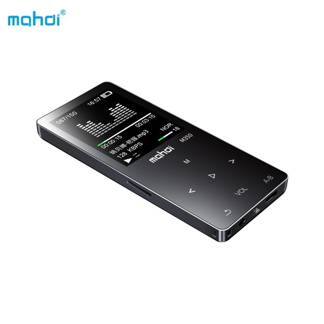 Mahdi Sport MP4 Music Player Touch Keys MP4 Player 8G TF Video 65h Record E-book Clock FM Built-in Speaker Armband Earphones