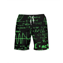 VEEVAN Designer Men Beach Shorts Physical Chemistry Formula 3D Printing Board Shorts