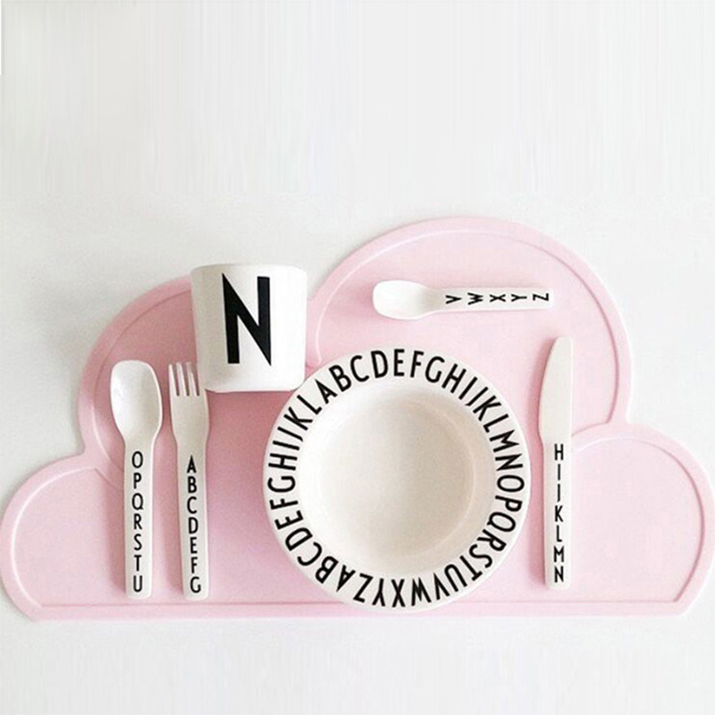 Baby childrens cloud of silicone placemat Simple mobile plate Baby dining table