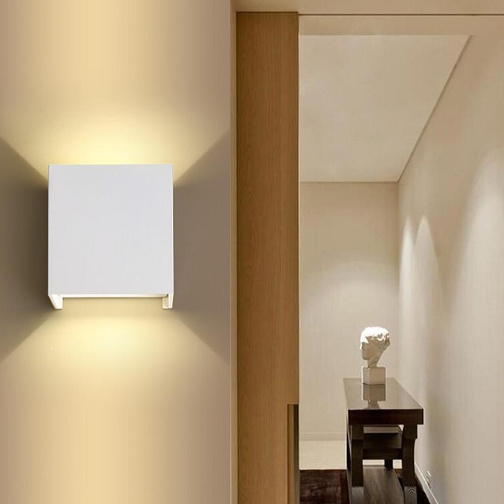 Moderna kratka kocka LED zidna svjetiljka postavljena na površinu 7W - Unutarnja rasvjeta