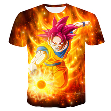 Camiseta 3D Dragon Ball Z Ultra Instinct Goku Super Saiyan Dios azul Vegeta  estampado dibujos animados 53894e2488e85