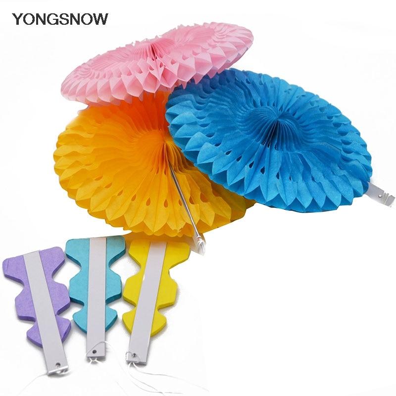 New 5pcs Tissue Paper Fan Diy Crafts Hanging Wedding: 1pcs Tissue Paper Cut Out Paper Fans Pinwheels Hanging